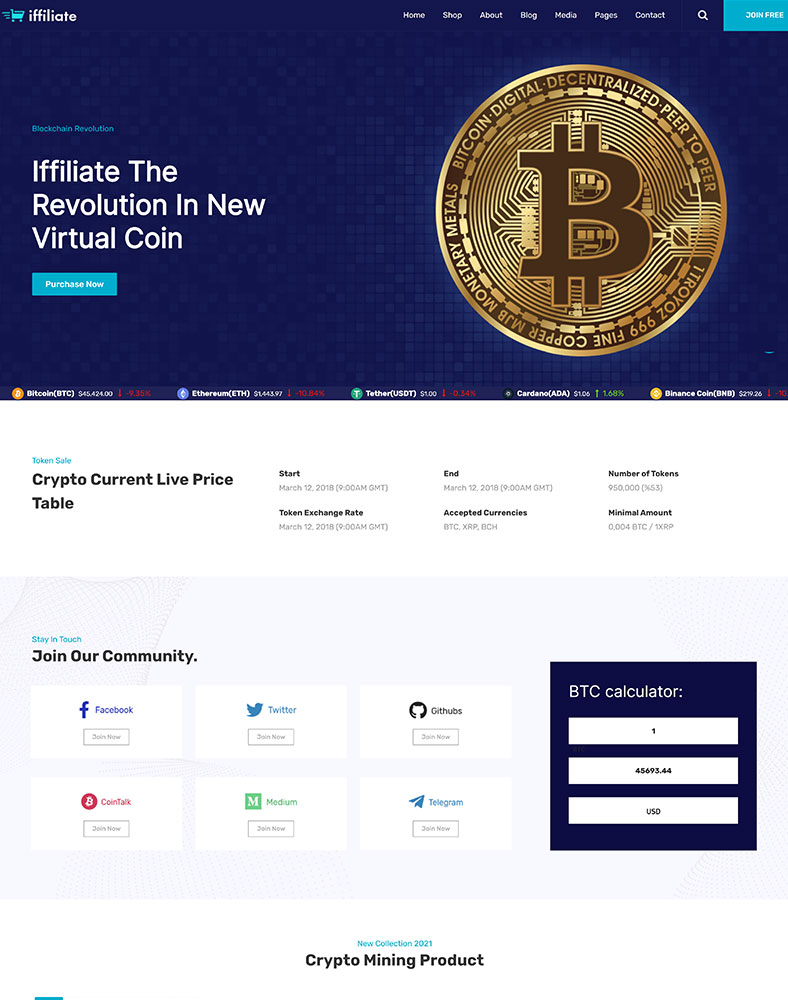 Cryptocurrency Affiliates