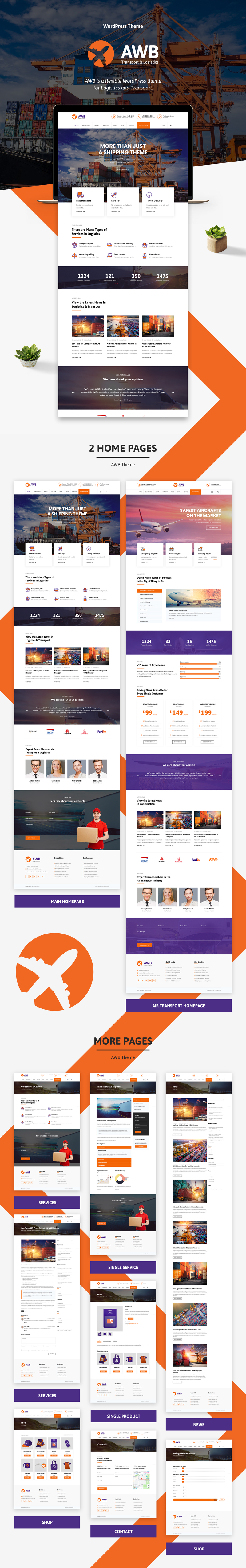 AWB - Transport & Logistics WordPress Theme - 1
