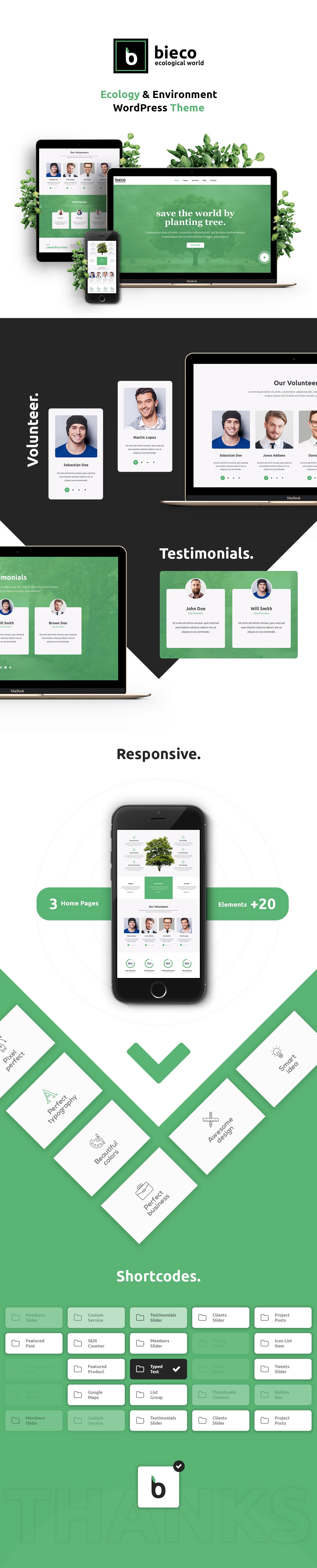 Bieco - Environment & Ecology WordPress Theme - 1