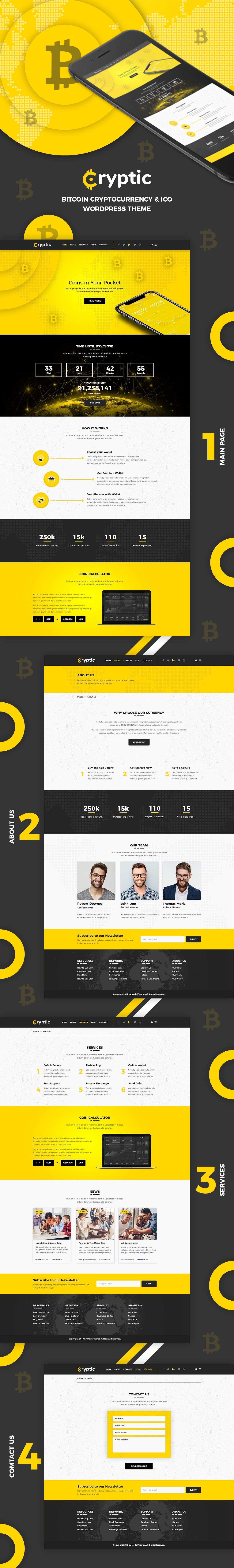 Cryptic - Cryptocurrency WordPress Theme - 6