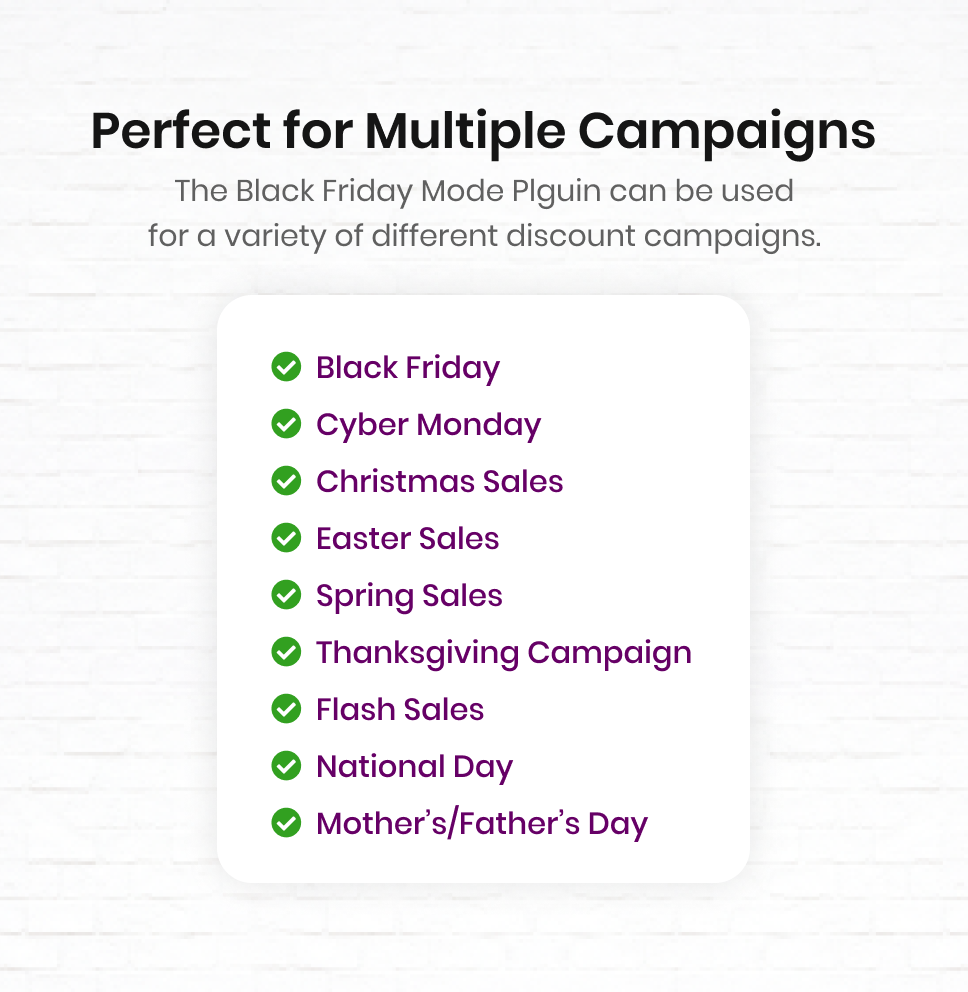 Black Friday / Cyber Monday Mode Plugin for WooCommerce - 14