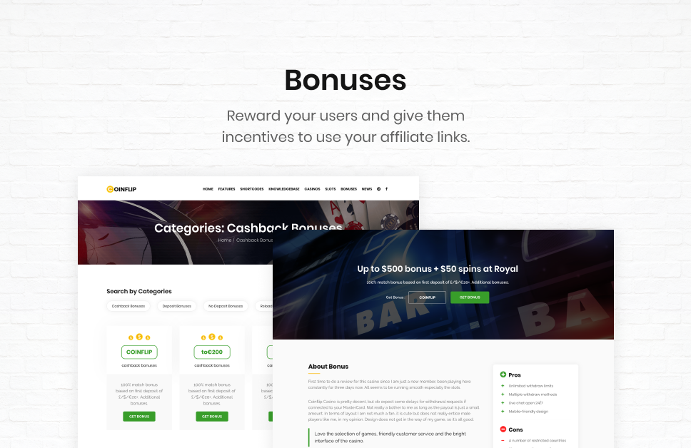 Coinflip - Casino Affiliate & Gambling WordPress Theme - 6