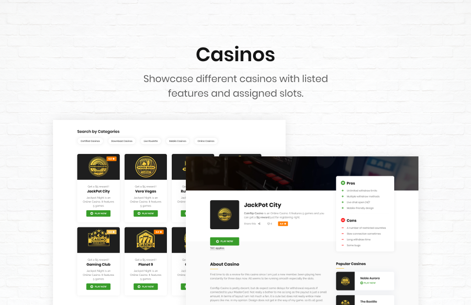 Coinflip - Casino Affiliate & Gambling WordPress Theme - 4