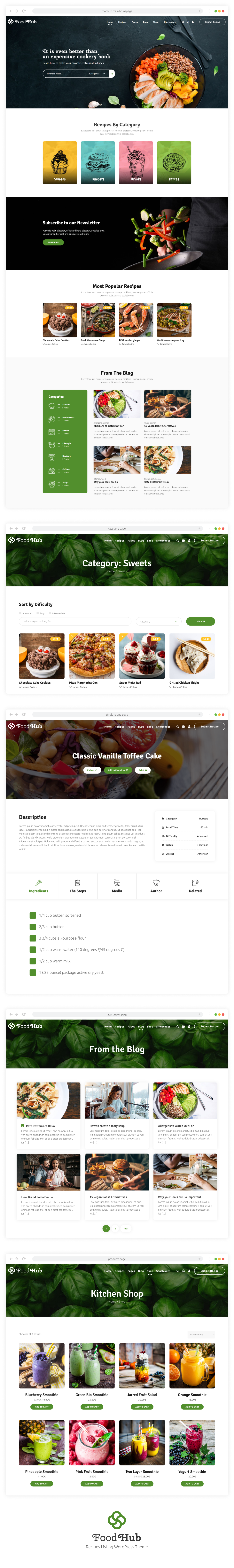 Foodhub - Recetas WordPress Theme - 1