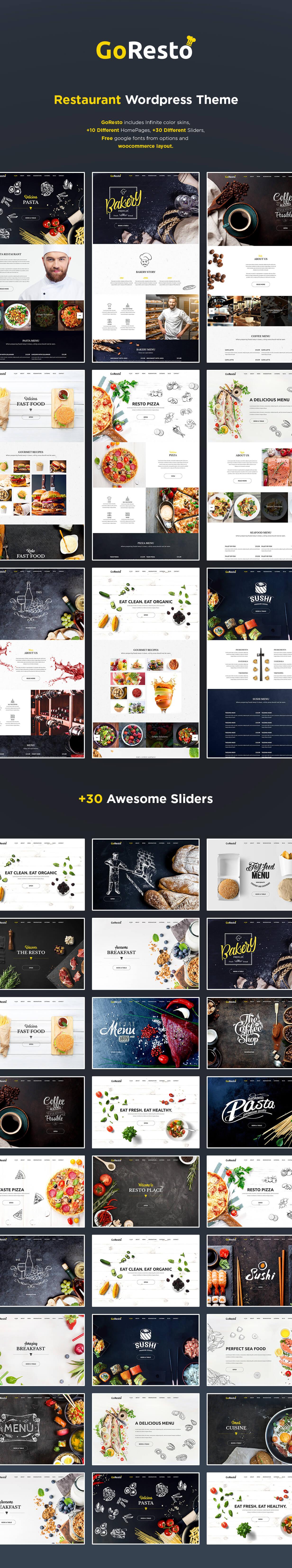 GoResto - Restaurant Food Delivery WordPress Theme - 1