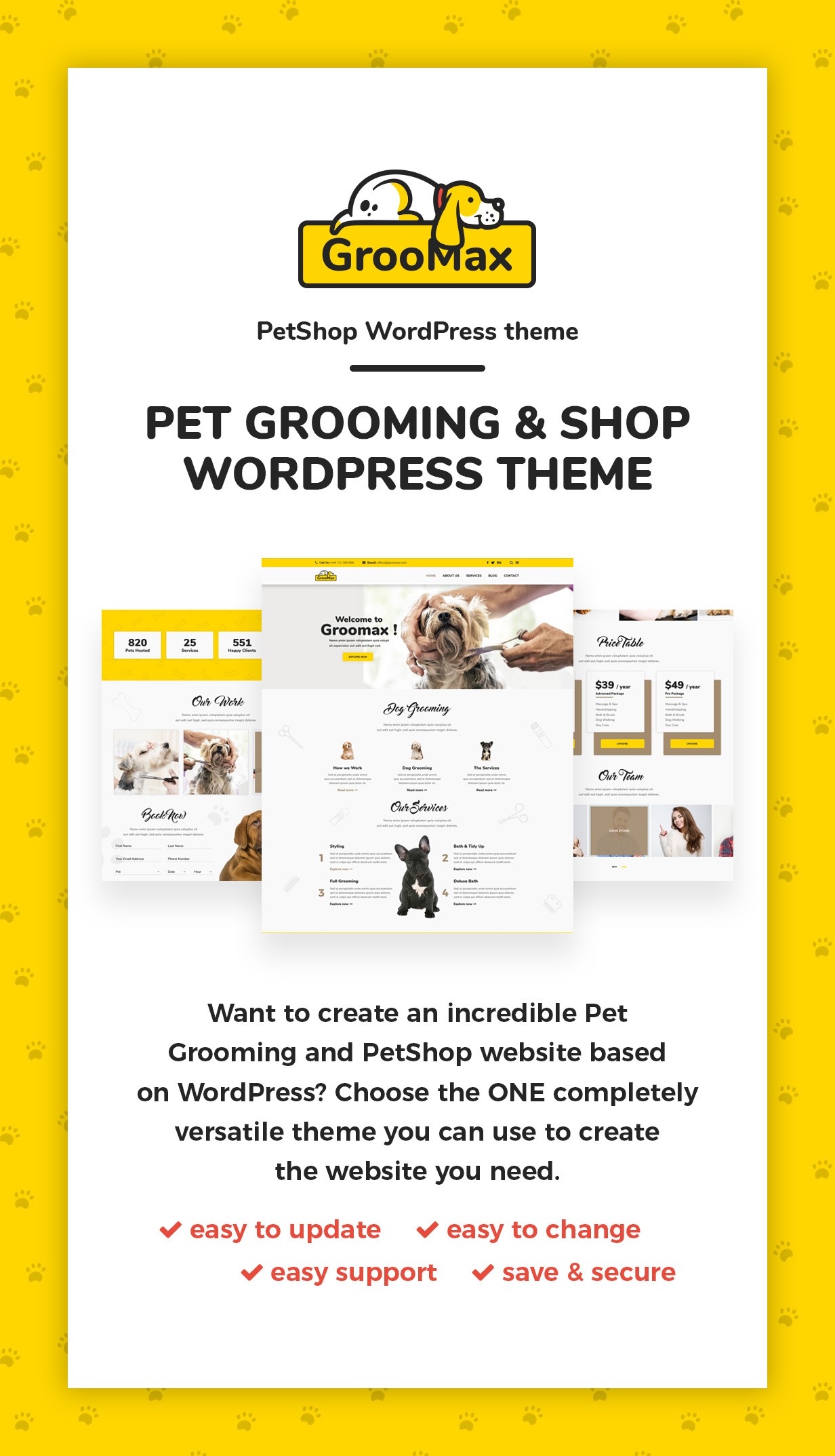 Groomax - Pet Grooming & Shop WordPress Theme - 1