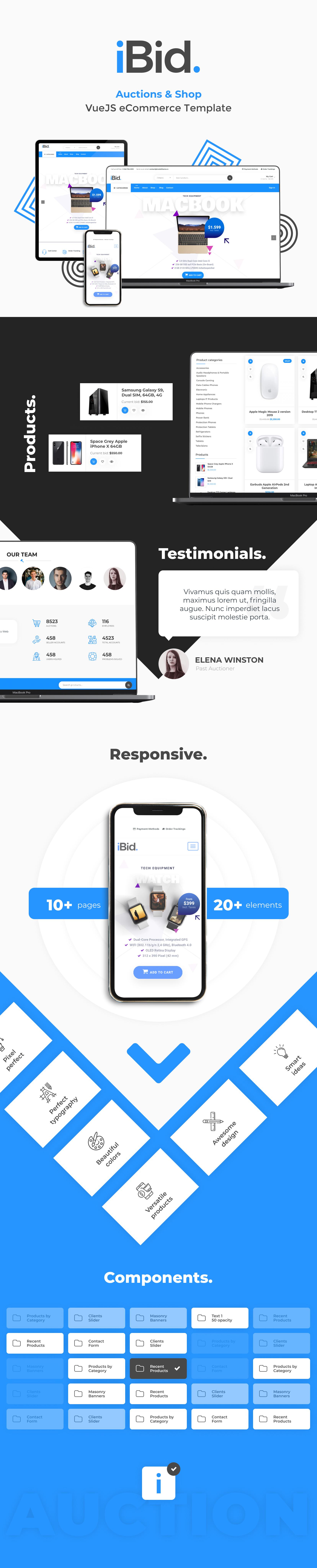 iBid - VueJS eCommerce & Auctions Template - 3