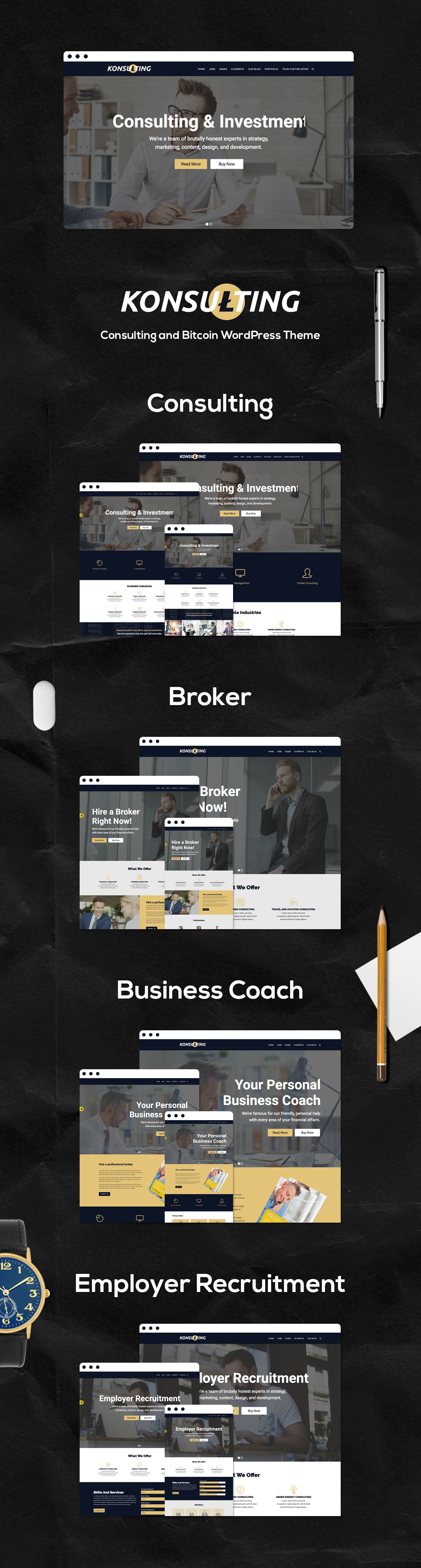 Konsulting - Consulting & Bitcoin WordPress Theme - 3