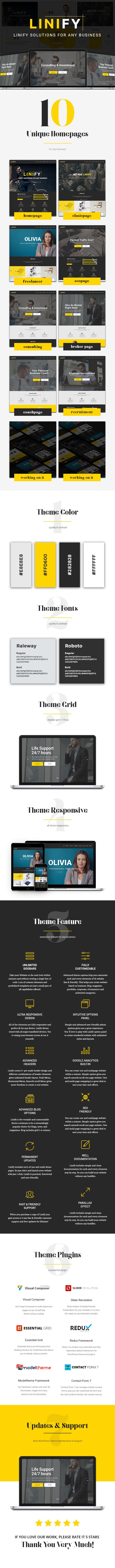 Linify - One Man Business WordPress Theme - 4