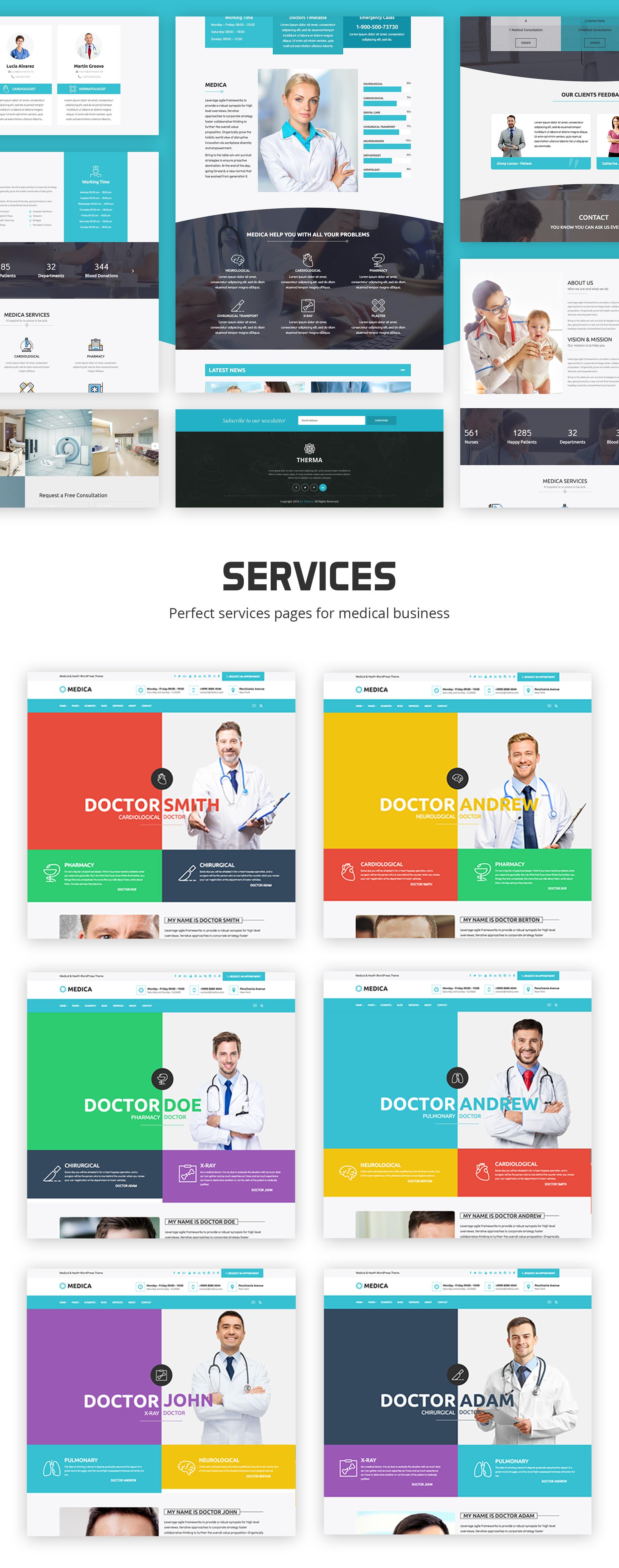 MedicaWP - A Stilish Medical / Hospital / Health WordPress Theme - 1