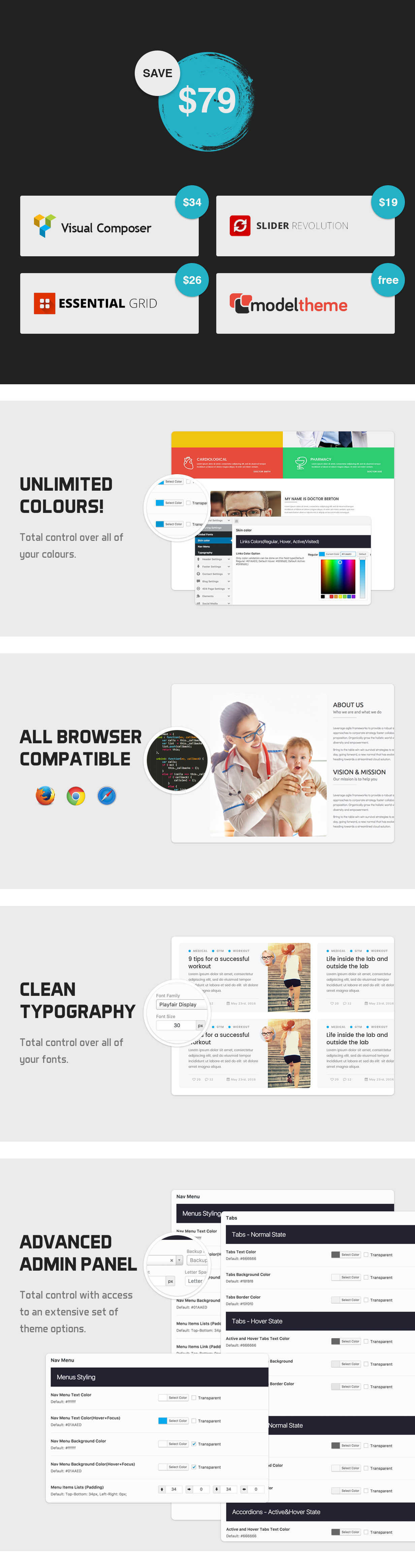 MedicaWP - A Stilish Medical / Hospital / Health WordPress Theme - 2