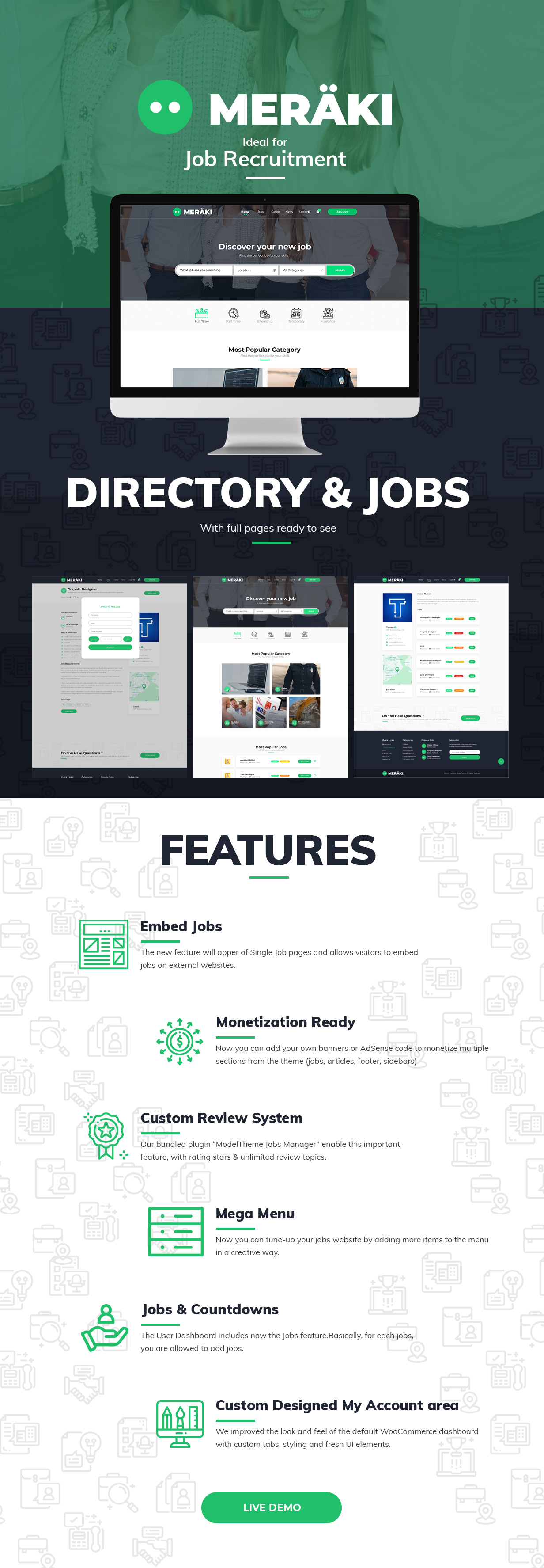 Meraki - Job Board WordPress Theme - 1