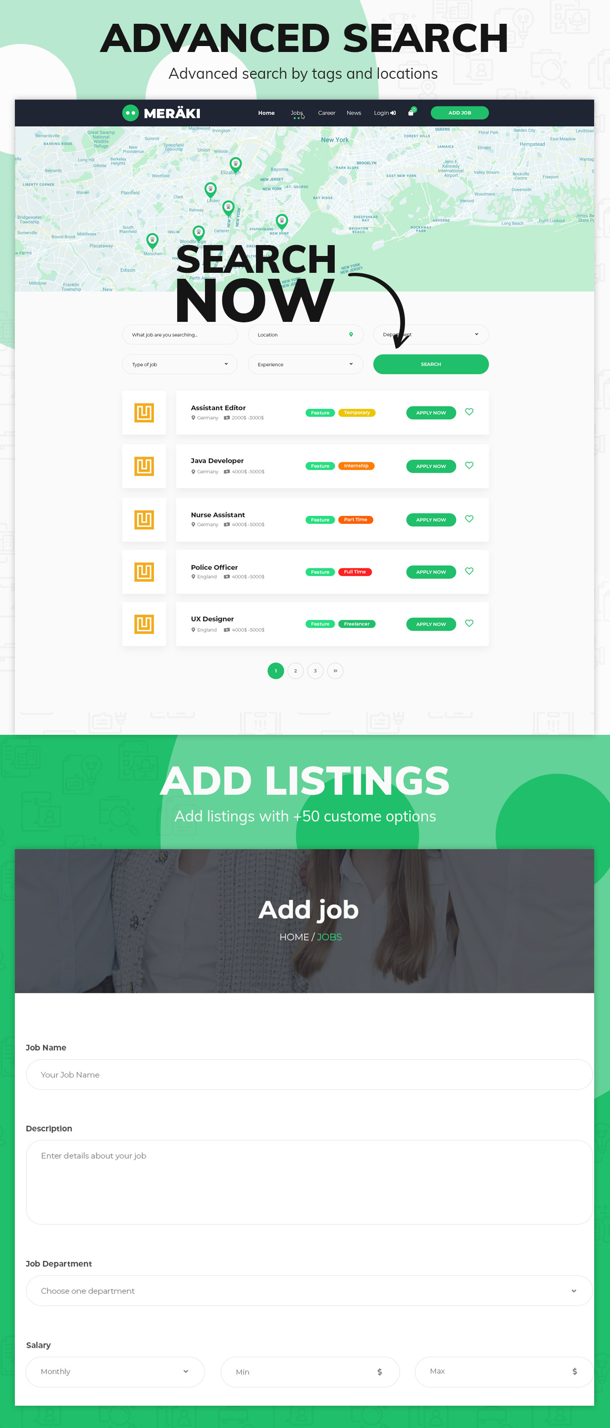 Meraki - Job Board WordPress Theme - 2