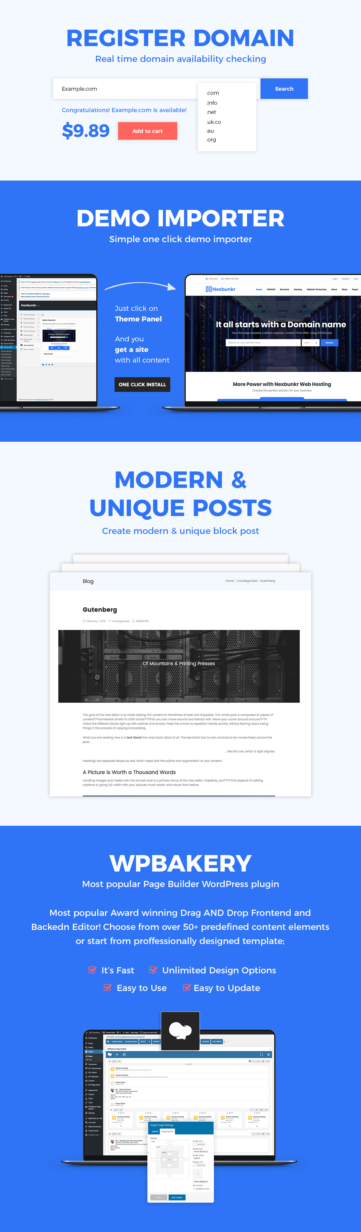 Nexbunker - Hosting/Server WordPress Theme + WHMCS - 3