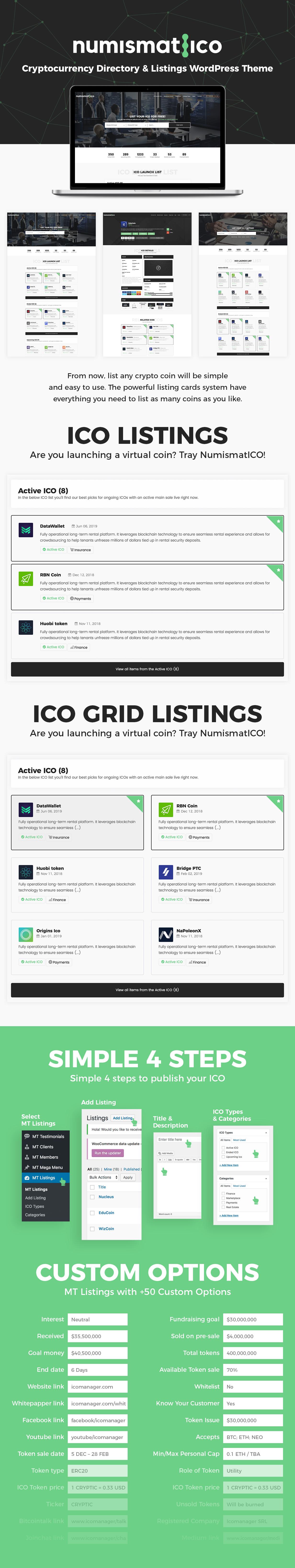 Numismatico - Cryptocurrency Directory & Listings WordPress Theme - 8