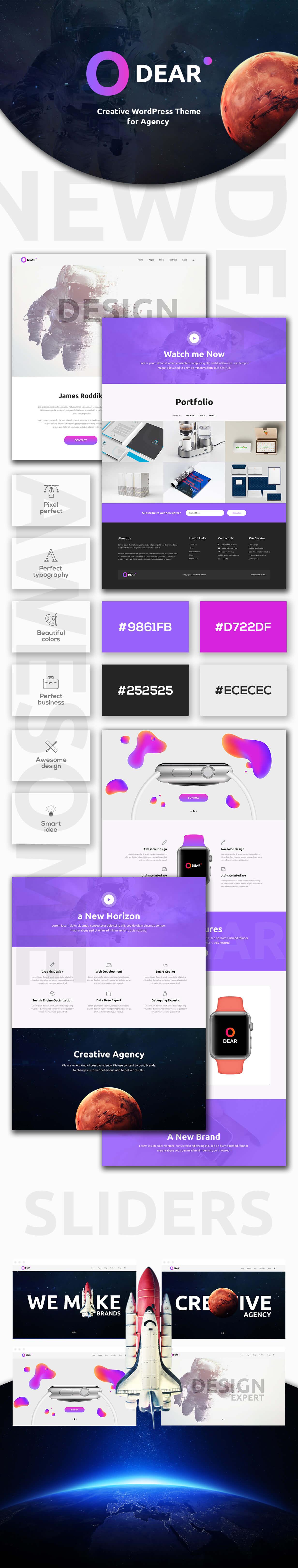 Odear - Multi-Concept Creative WordPress Theme - 1