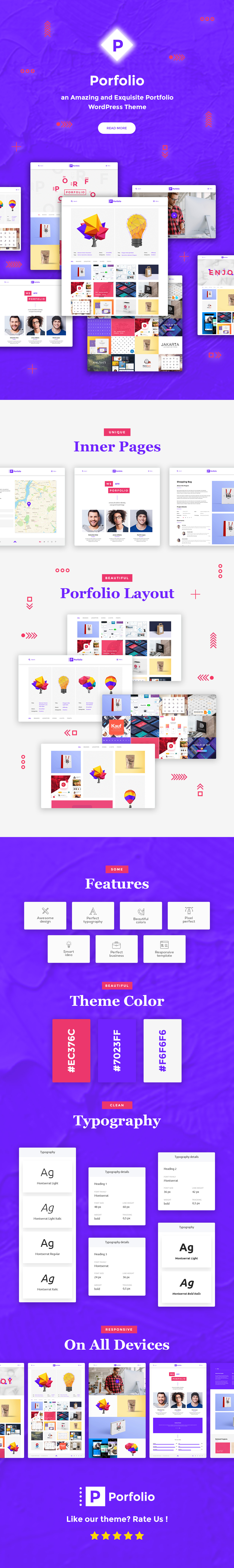 Porfolio - Creative Agency & Personal Portfolio WordPress Theme