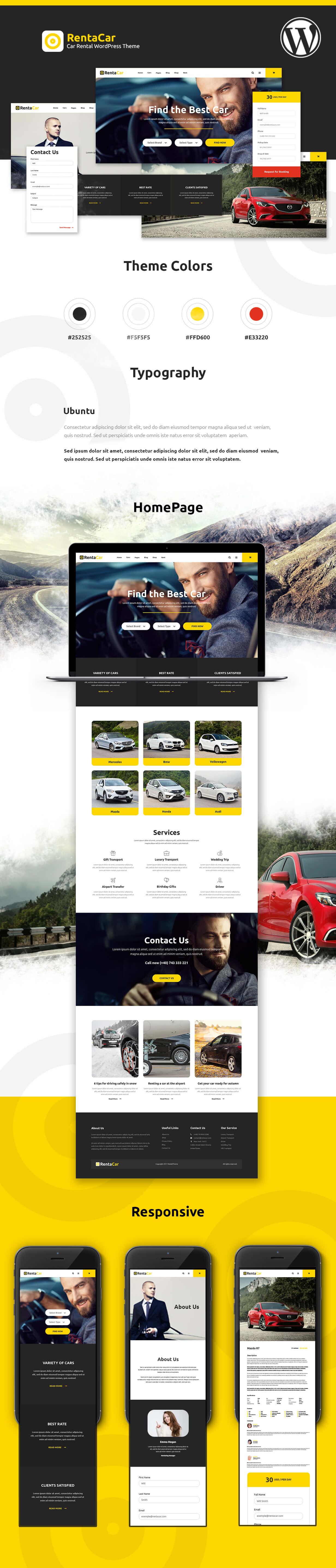 Rentacar - Car Rental / Listing WordPress Theme - 5