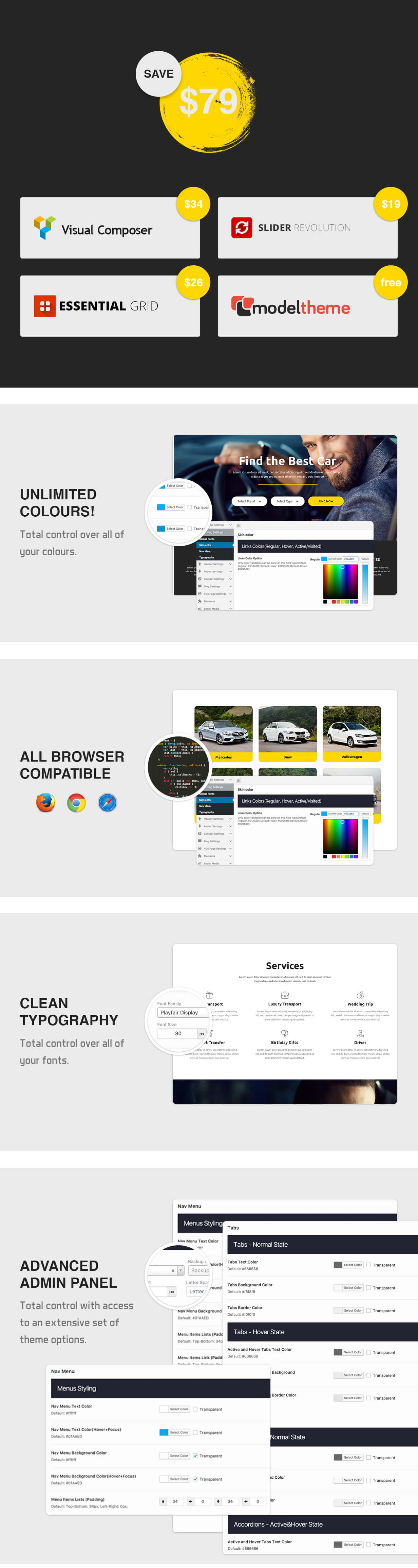 Rentacar - Car Rental / Listing WordPress Theme - 8