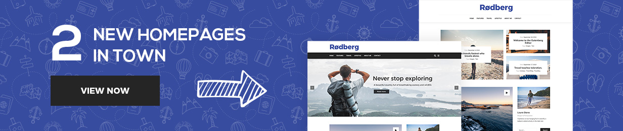 Rodberg - Travel Blog WordPress Theme Gutenberg Compatible - 1