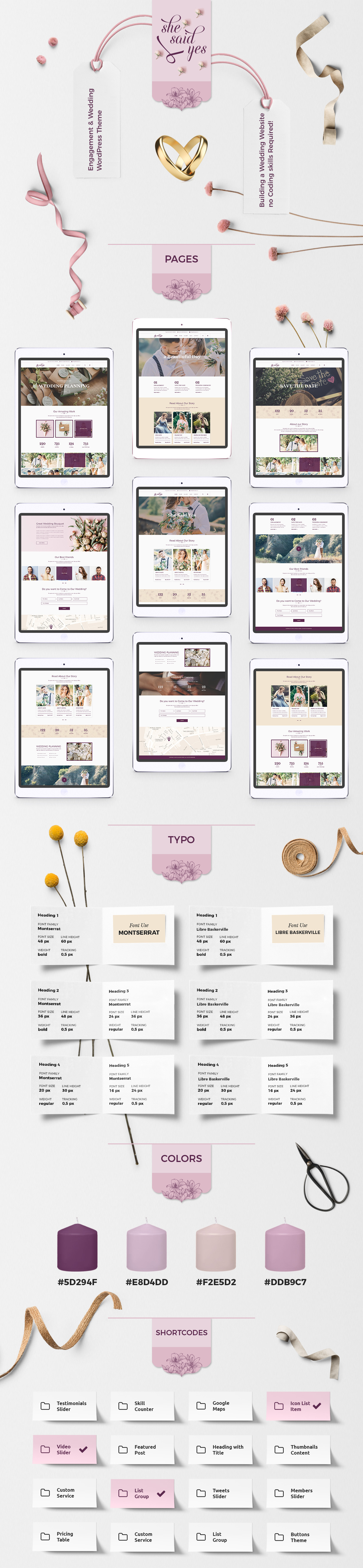 SheSaidYes - Engagement & Wedding WordPress Theme - 2