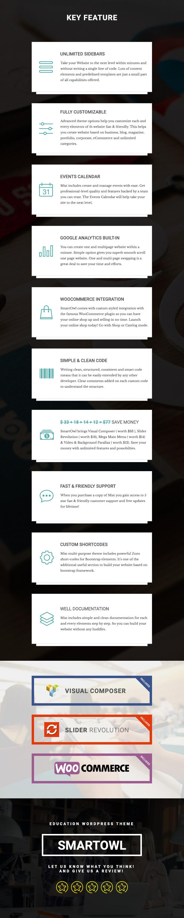 SmartOWL - Tema de educación y sistema de gestión de aprendizaje para WordPress - 13