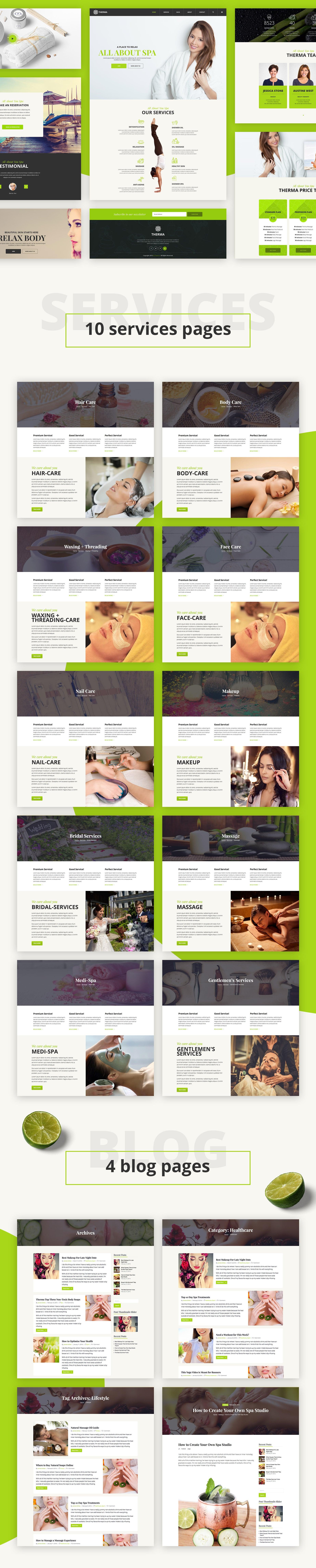 Therma - Spa, Beauty, Cosmetic WordPress Theme - 3