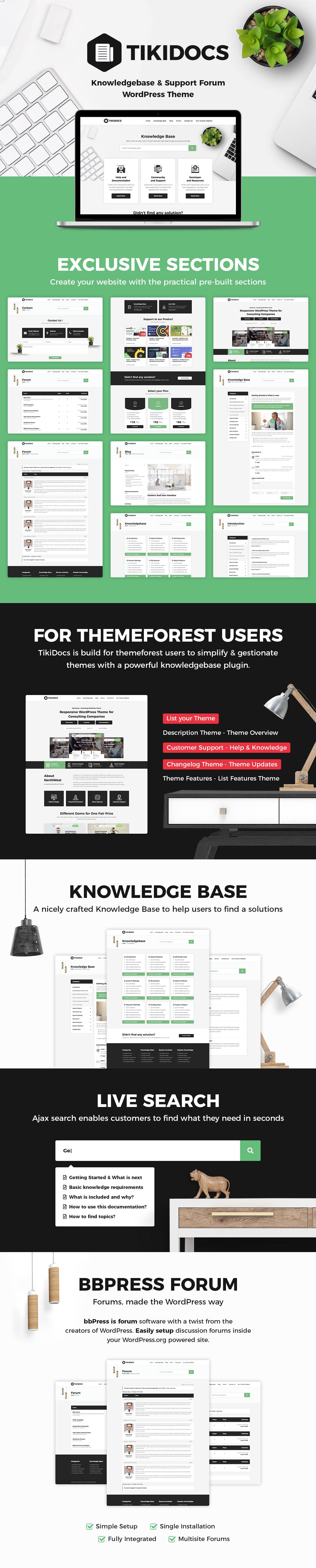 Tikidocs - Knowledgebase & Support Forum WordPress Theme + RTL - 2