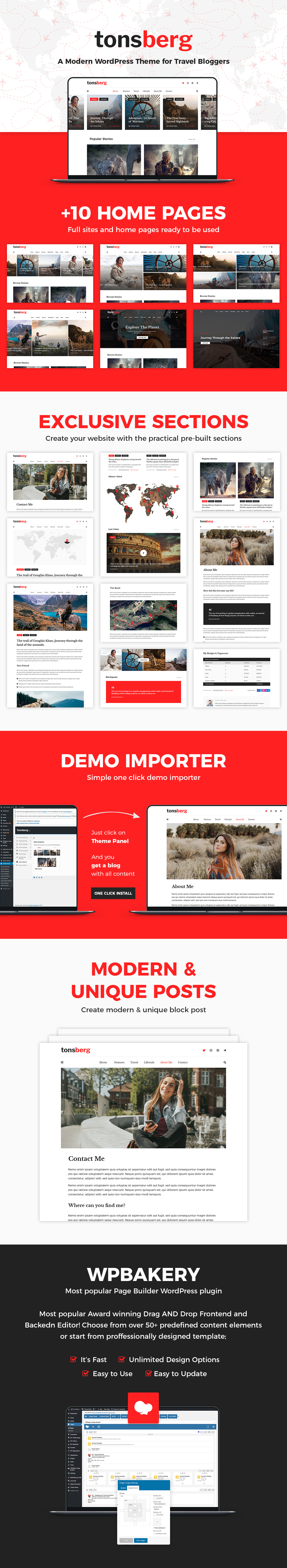 Tonsberg - A Modern WordPress Theme for Travel Bloggers - 3