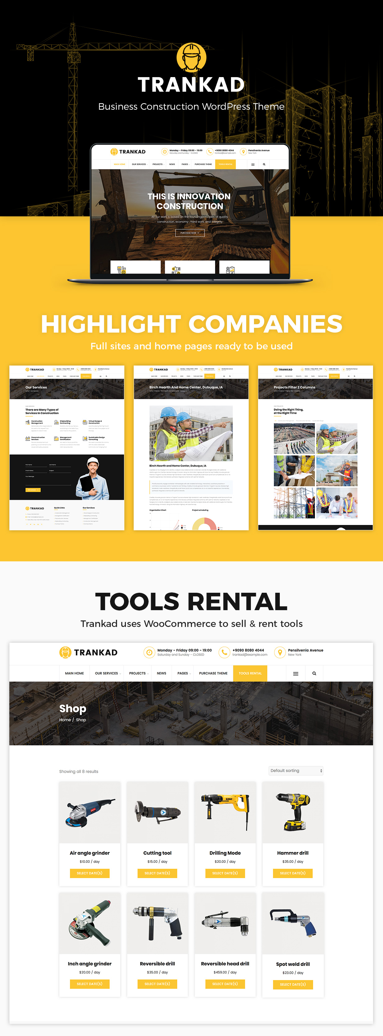 Trankad - Construction WordPress Theme - 5