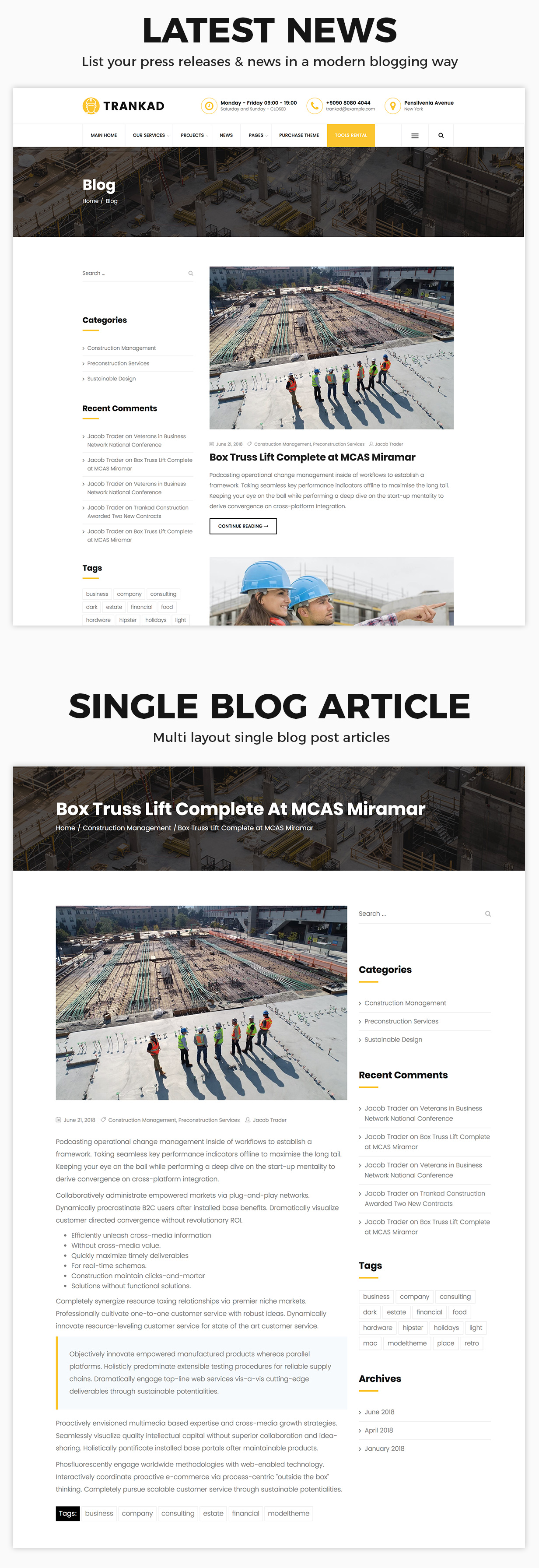 Trankad - Construction WordPress Theme - 9