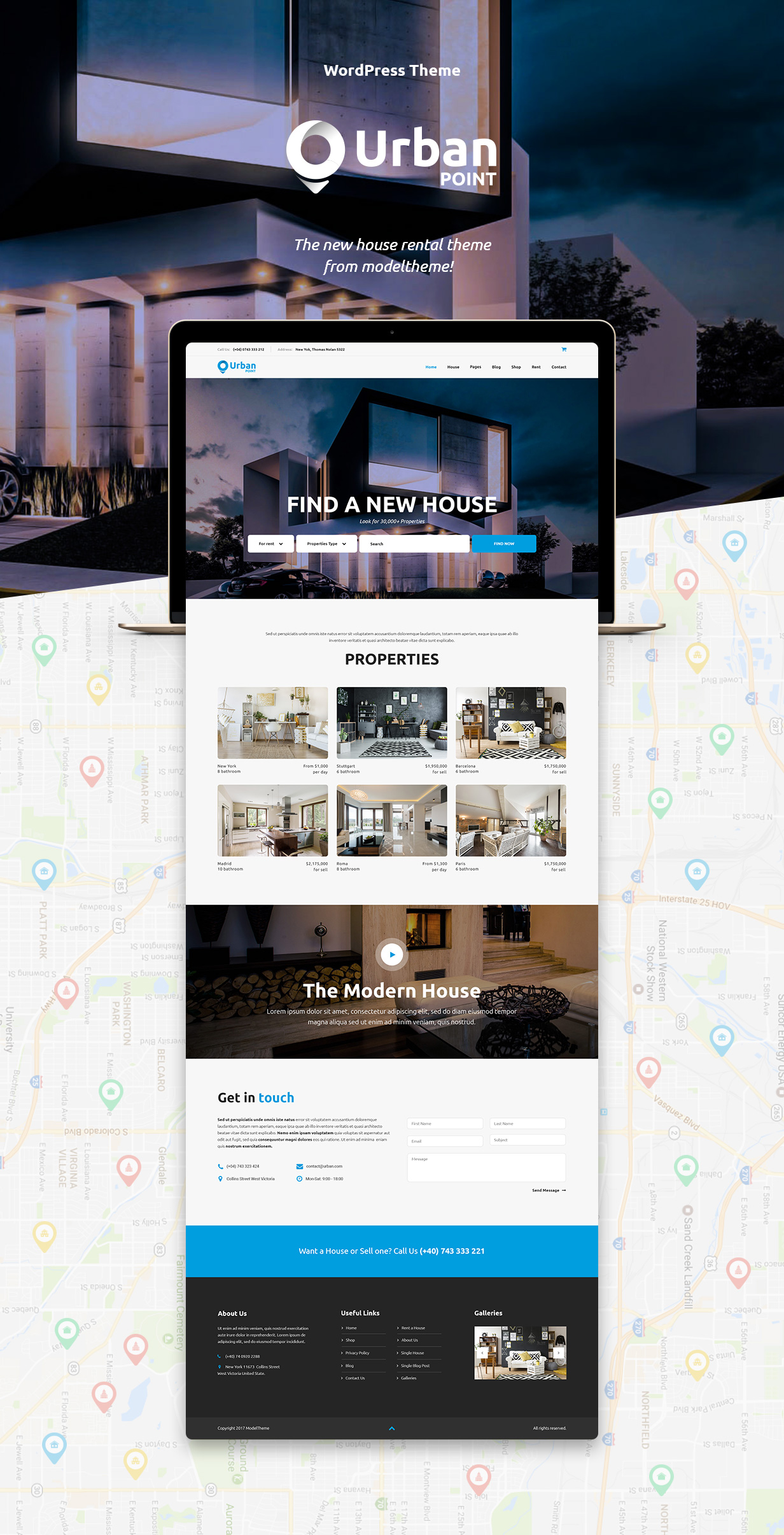 UrbanPoint - House Selling & Rental WordPress Theme - 4