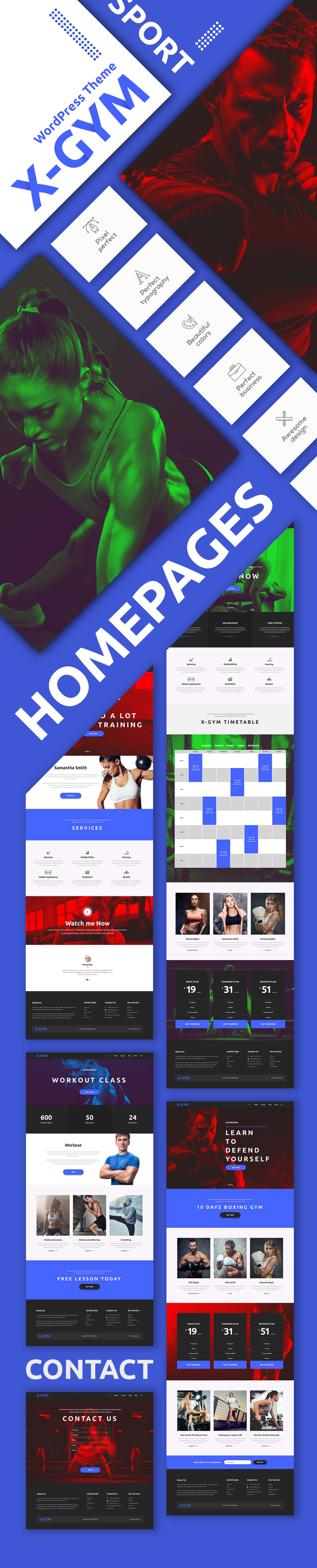 X-Gym - Fitness WordPress Theme for Fitness Clubs, Gyms & Fitness Centers - 3