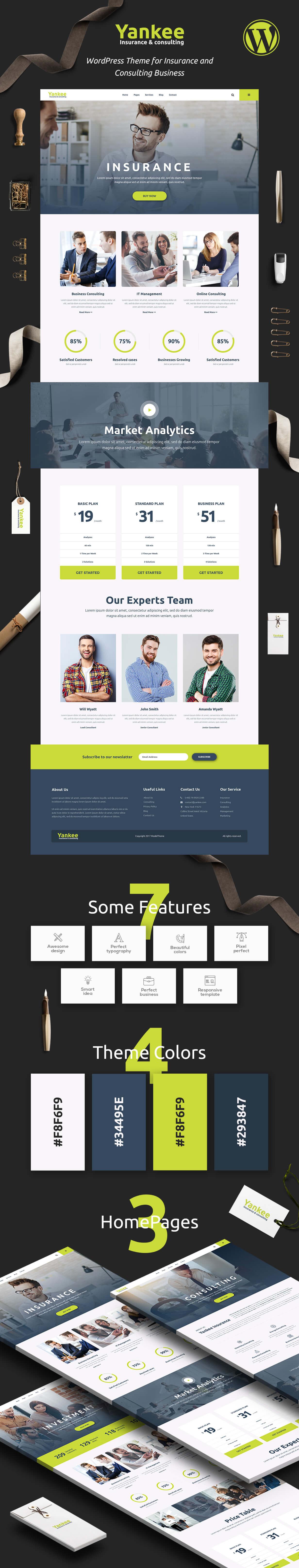 Yankee - Insurance & Consulting WordPress Theme - 2