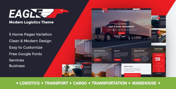 Eagle – Logistics & Transportation Theme