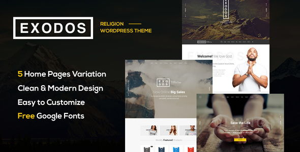 Exodos - Church WordPress Theme