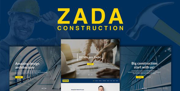 Zada - Construction WordPress Theme