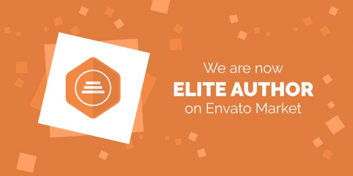 We are now Elite Author on Envato Market