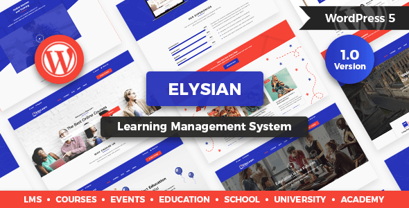 Elysian – WordPress School Theme + LMS
