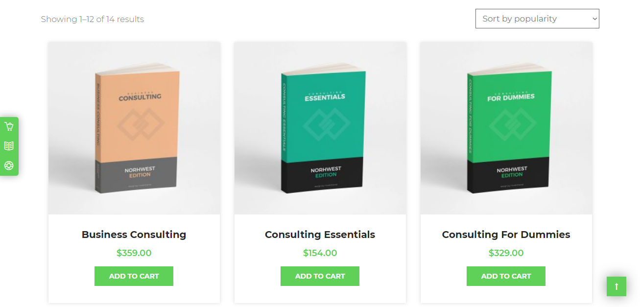 Consulting Book Shop WP Theme