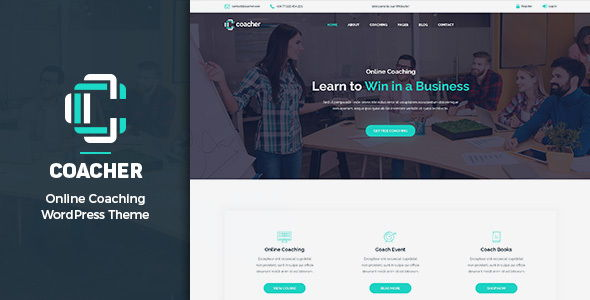 Coacher - Trainers & Life Coaching WordPress Theme + RTL