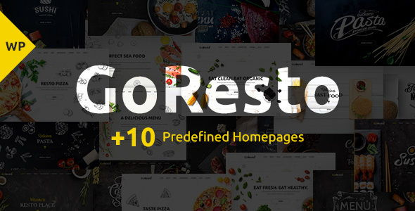 GoResto - Restaurant Food Delivery WordPress Theme