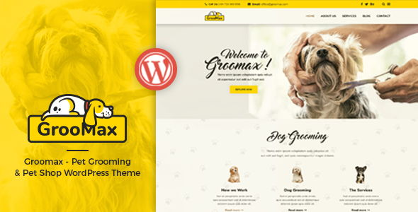 Groomax – Pet Grooming & Shop Theme