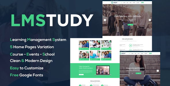 LMStudy – Education LMS WordPress Theme