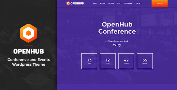 OpenHub – A Stylish Events & Conference Theme