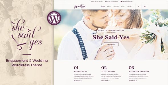 SheSaidYes – Engagement & Wedding Theme