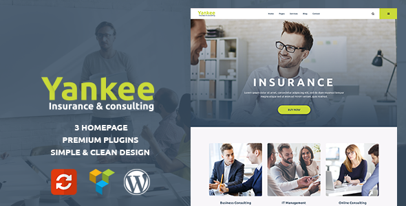 Yankee - Insurance & Consulting WordPress Theme