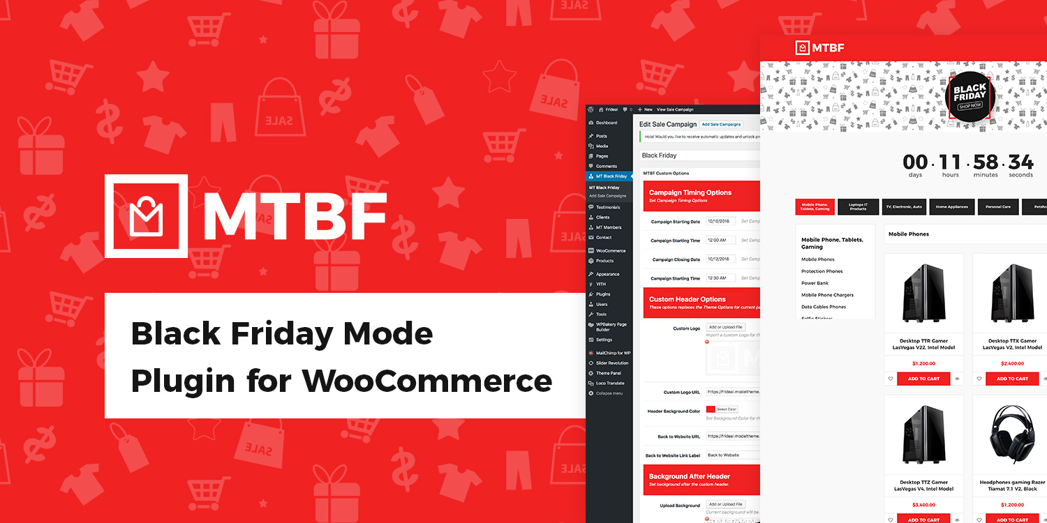 Black Friday / Cyber Monday Plugin for WooCommerce