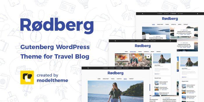 Rodberg – Travel Blog WordPress Theme Review