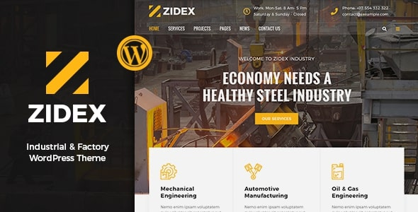 Zidex – Industrial & Factory WordPress Theme
